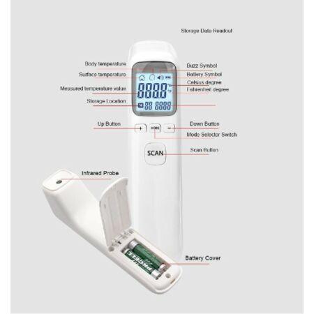Érintés nélküli infravörös lázmérő. - CK-T1502