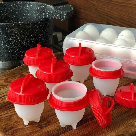 6 részes szilikon tojásfőző forma - Tökéletes tojások héj nélkül!