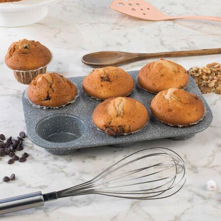 Zurrichberg 6 részes márványbevonatos muffin sütőforma